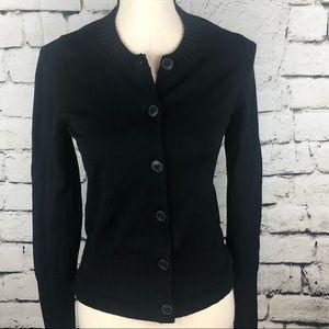 Banana Republic • Merino Wool Black Cardigan S